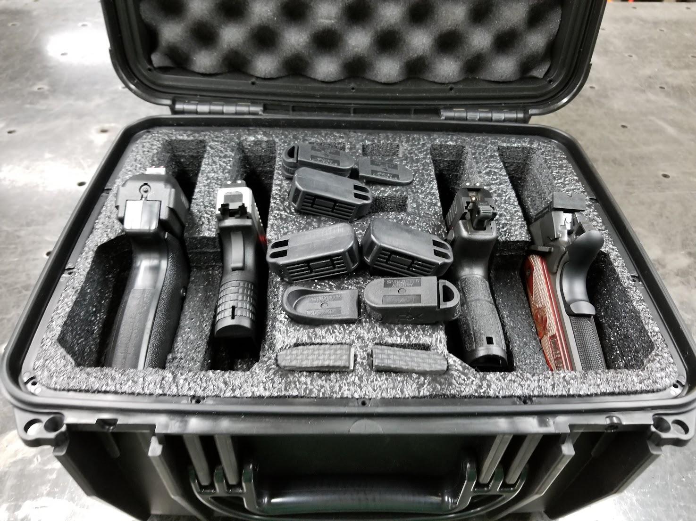 $130 handgun case vs $30 Harbor Freight case