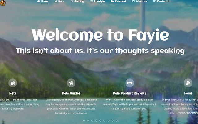 Fayie Blog Launcher