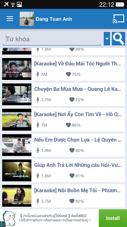 Yokara - Karaoke for Youtube- screenshot