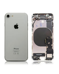iPhone 8G Housing with small parts Original Pulled Silver