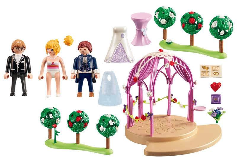 Contenido real de Playmobil® 9229 Pabellón Nupcial con Novios