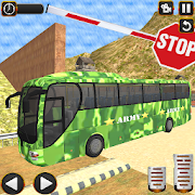 US Army Transporter Coach Bus Driving Simulator 3D