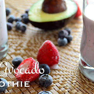 Berry Avocado Smoothie.