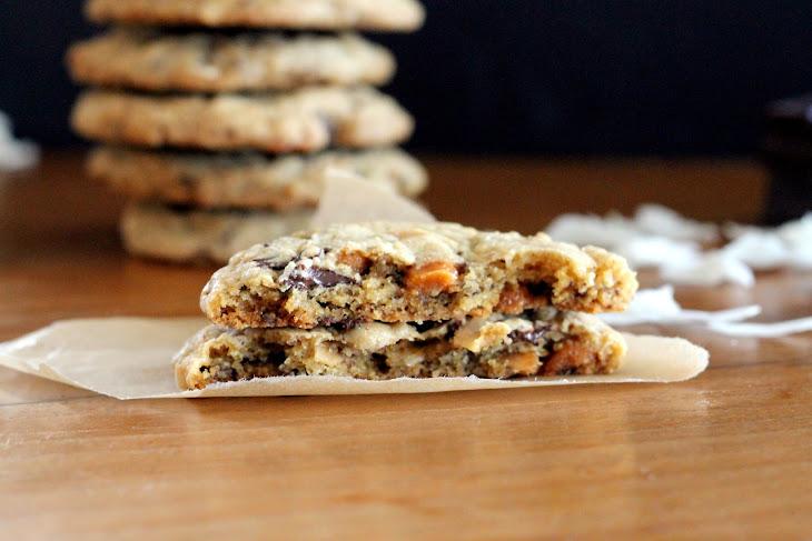 Caramel Coconut Chocolate Chunk Cookies Recipe | Yummly