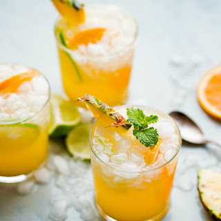 Pineapple Punch with Ginger Beer.
