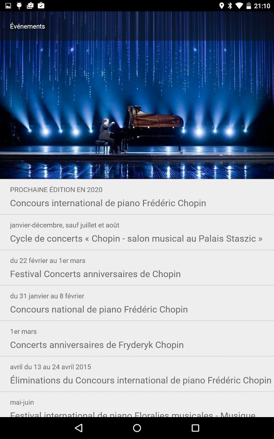 Chopin in Warsaw – Capture d'écran