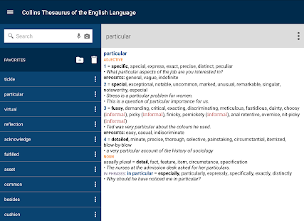 Collins Thesaurus English- screenshot thumbnail