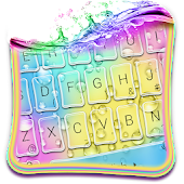 Rainbow Waterdrop Keyboard Theme Android APK Download Free By Cute Emoji Keyboard Shop