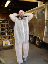 Photo: George the Icynene spray foam expert getting ready to do his thing