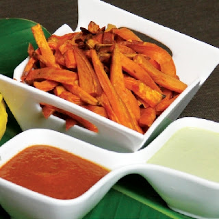 Hemp Seed Ranch Dressing with Sweet Potato Fries