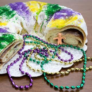 Mardi Gras King Cake (Bread Machine).