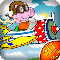 Cute Piggy Pilot icon