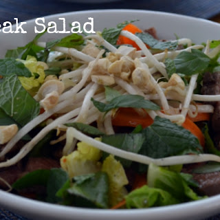 Thai Style Steak Salad.