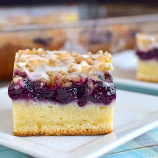 Blueberry Cream Coffee Cake.