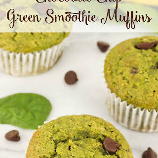 Chocolate Chip Green Smoothie Muffins.