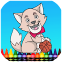 Cat & Dog Coloring Book Games icon
