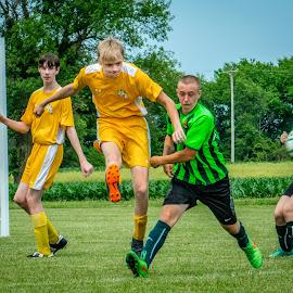 Good Kick! by T Sco - Sports & Fitness Soccer/Association football ( play, soccer, ball, game, kick, field, sports, match, team, sport, futbol )