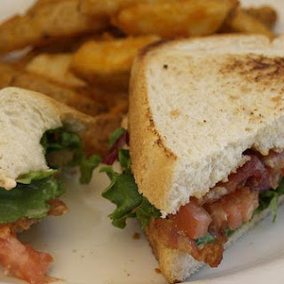 Bacon, Lettuce, Avocado and Fried Green Tomato Sandwiches