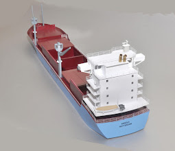 Photo: New 375' feeder container ship with hatches open or closed, or left off entirely. Maersk still lists of few of these. I'll bring this to Milwaukee later this month.
