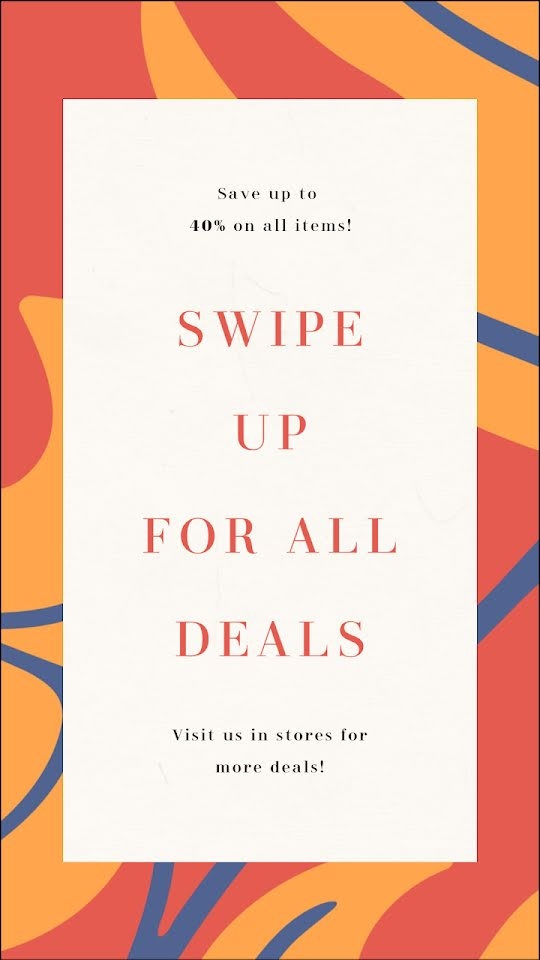 Swipe Up for All Deals - Facebook Story Template