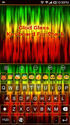 Emoji Keyboard-Glod Glass