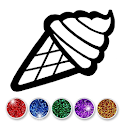Glitter ice cream coloring and drawing for kids🍦 icon