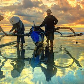 Sebelum Melaut by I Gusti Putu Purnama Jaya - Landscapes Sunsets & Sunrises