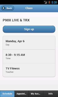 TV Fitness- screenshot thumbnail