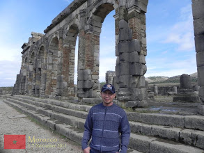 Photo: at Volubilis (arabic: Walili), an archaeological site in Morocco situated near Meknes, which features the best preserved Roman ruins in this part of northern Africa