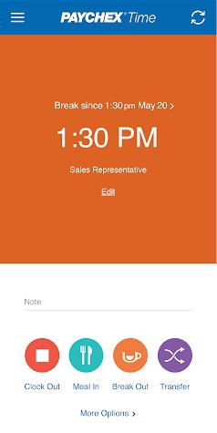 Paychex Time Screenshot