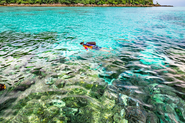 Snorkel in the shallow water at Ao Chong Khat