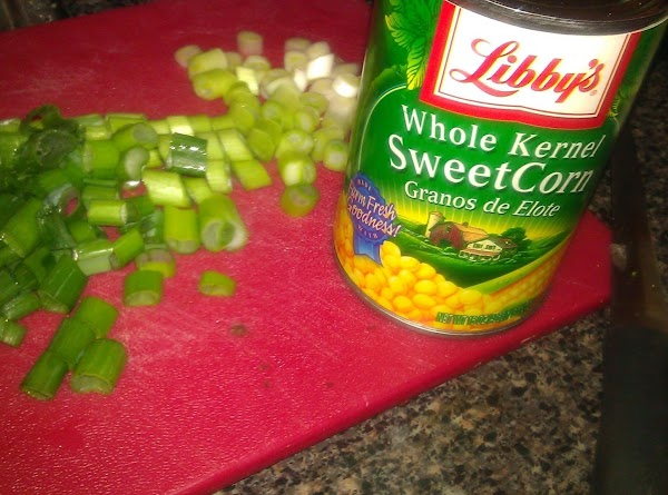 Add corn and green onions.  Reduce heat and boil lightly for 5 minutes,...