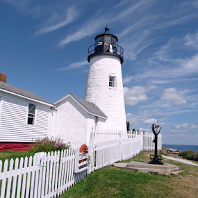 Pemaquid Lighthouse #2 by Tony Huffaker - Buildings & Architecture Public & Historical ( lighthouse, building, architecture )