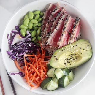 Sesame Crusted Ahi Tuna Bowls Recipe