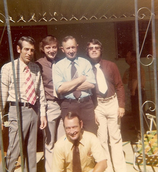 Photo: The Adams boys. I think taken after Annie's funeral in Redding. 1974