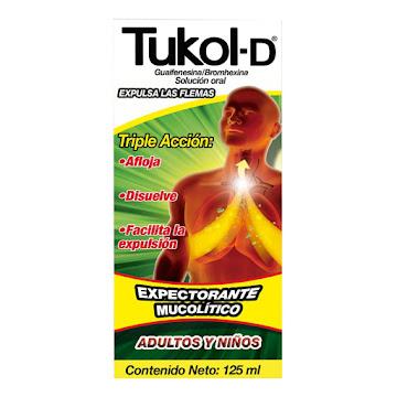 Expectorante Tos Tukol-D Adultos y Niños 125 ML