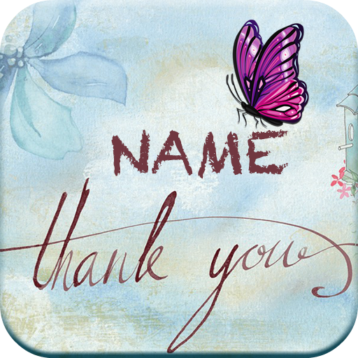 Thank You Cards Name Art Maker Icon