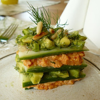 Lasagna Cucumber Avocado Sandwiche With Dill