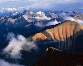 """Photo: Sultan Mountain (13,368 ft) on the left, Bear Mountain (12,987 ft.) at high right, the <a href=""""http://www.widerange.org/search/?q=needle%20mountains"""">Needle Mountains</a> in the distant shadows, and the <a href=""""http://www.widerange.org/search/?q=grenadier%20range"""">Grenadier Range</a> in the left distance. As seen from almost 13,000 feet, above Silverton, after as a September snow storm cleared."""