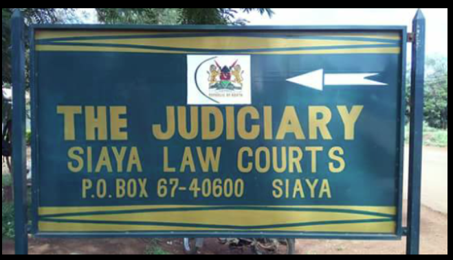 The signpost of Siaya law courts.