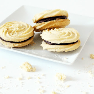 Chocolate Viennese Whirls.