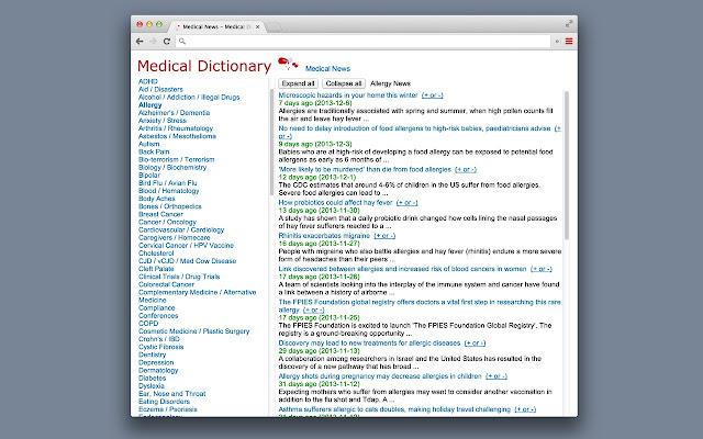 Medical Dictionary News Chrome Web Store
