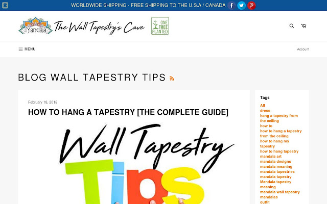 Blog - Wall Tapestry Tips