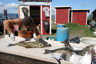 Photo: this guy is filleting our fish. that is mine.