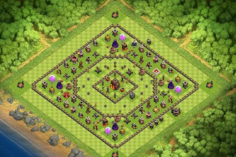 Maps COC TH 10 War Base - náhled