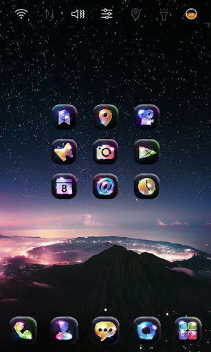 Space Wallpaper Launcher theme