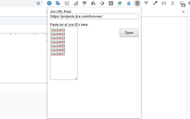 Jira List Opener