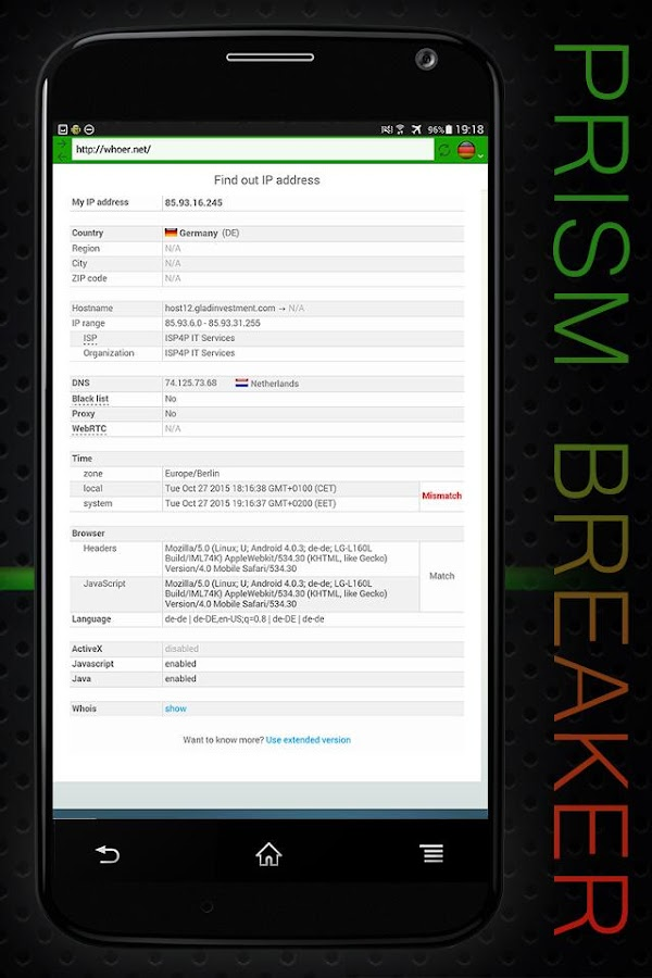 VPN App Prism Breaker 4 free- screenshot