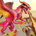Wild Flying Dragon Attack Simulator icon