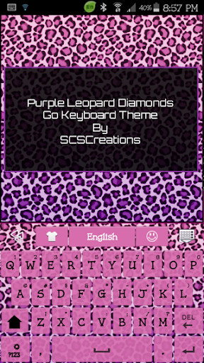 GO KB SKIN - PurpleLeopard